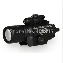 New Arrival Tactical X400 Handgun Flashlight With Red Laser Sight Good quality for Air Soft Pistol Guns and Weapons