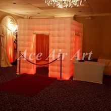 3d wedding decoration portable inflatable led photo booth kiosk for advertising