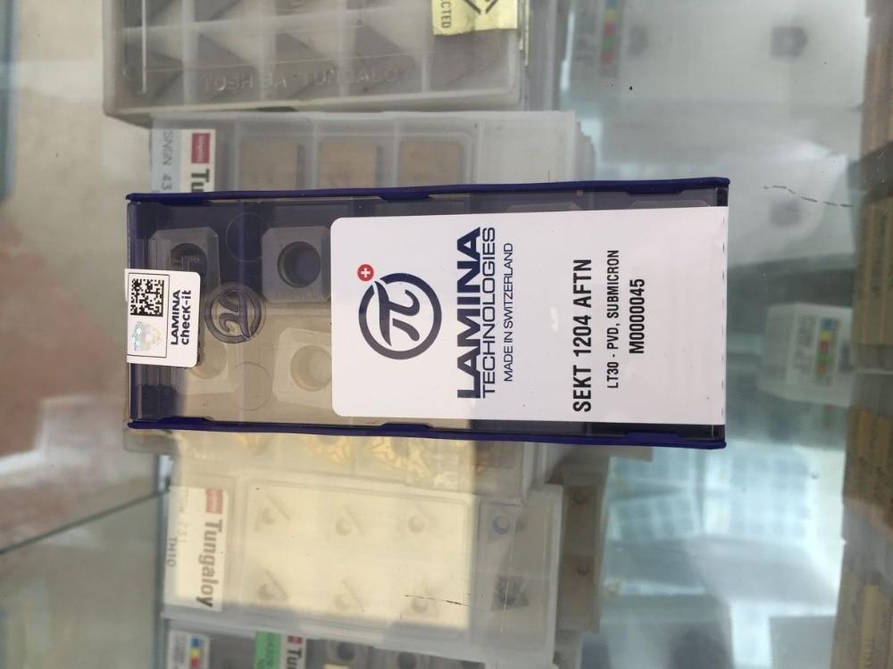New 10PCS Square SEKT1204AFTN Carbide Insert for SE-45 degree KM12 Face Milling cutter<br>