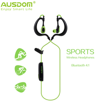 TOP selling Ausdom S09 era-hook headset Bluetooth 4.1 Sport headphone Wireless Stereo Earphone hand-free and noice cancelling(China)