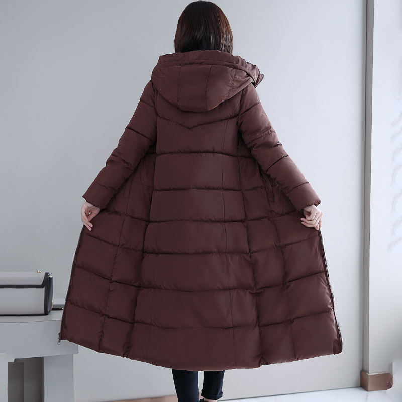 Plus Size 4XL 5XL 6XL womens Winter Jackets Hooded Stand Collar Cotton Padded Female Coat Winter Women Long Parka Warm Thicken 30