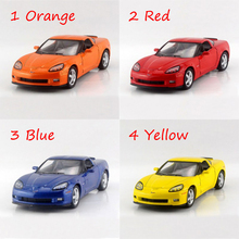Corvette Z06 4 Color 1/36 alloy models model car Diecast Metal Pull Back Car Toy For Gift Collection