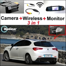 3 in1 Special WiFi Camera + Wireless Receiver + Mirror Monitor EASY DIY Parking System For Alfa Romeo Giulietta 940 2010~2015