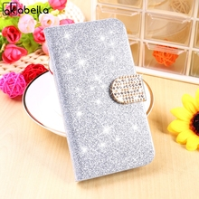 AKABEILA Rhinestone Phone Case For ZTE Blade L3 L2 L4 A460 Q5 S6 Lux S6 Plus Q7 Z7 Max V5 V975 Cover Holster Flip Bag(China)