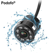 Podofo 18.5mm Car Back Up Camera HD Color Reverse Rear View Camera 8 LED Night Vision 170 Degree Mini Waterproof Color CCD Image(China)