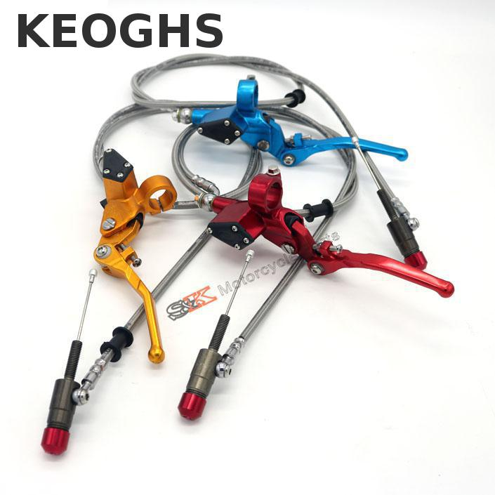 Keoghs Hydraulic Clutch 1200mm Lever Master Cylinder For125-250cc Vertical Engine Off Road Motorcycle Pit Dirt Bike Motocross<br>