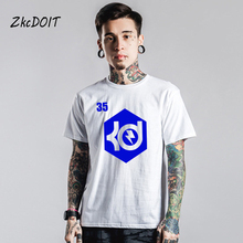 New design summer Pablo t shirt men juventus jersey Kevin Durant basketbal t shirt men KD Durant #35 tops tee,tx2463(China)