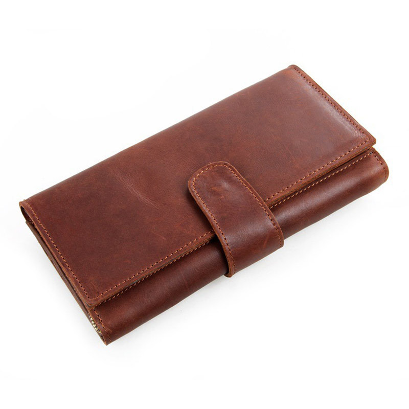 Vintage Cowhide Male Long Clutch Wallets Genuine Leather Men Purse Multi Card Holders For Man PR588052<br>