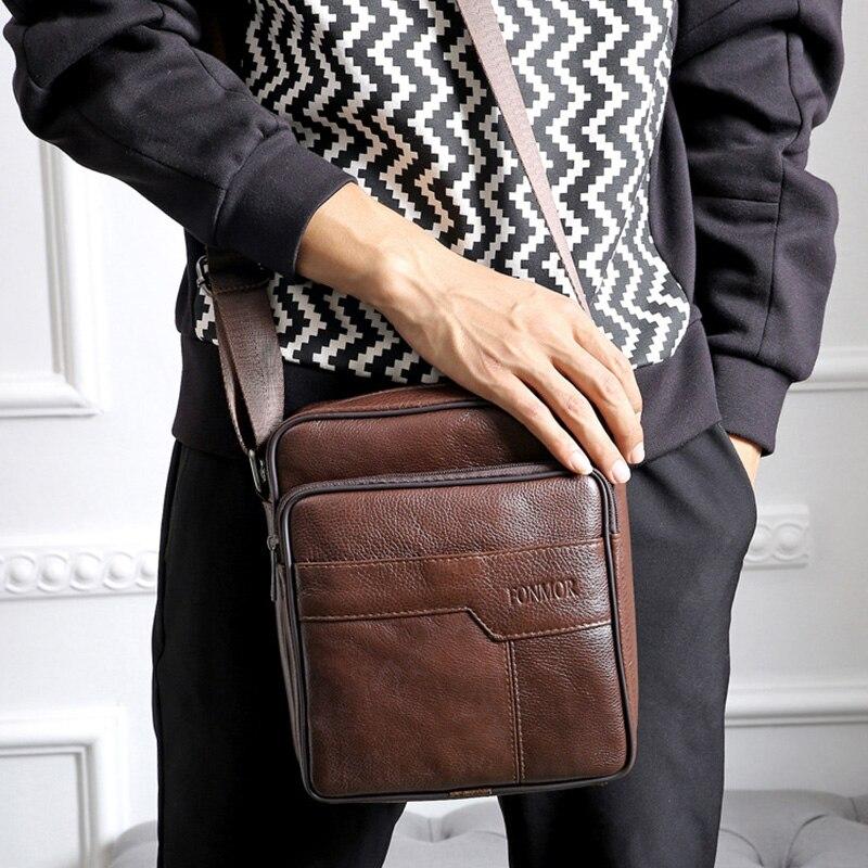 2017 New fashion 100% Genuine Leather Mens single shoulder Bags Cowhide Crossbody Bag for man bolsas hombre mens business bags<br><br>Aliexpress