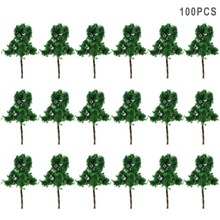 100PCS Scale Train Layout Set Model Trees N Z 3cm model train Z scale 3010 terrarium miniatures model building kits 1:25-1:300(China)