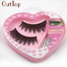1 pair Natural Long Thick False Eyelashes Charming Eyelashes Eye Makeup Well packed Levet Dropship 3MAR24(China)