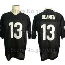 2018 Cheap #13 Willie Beamen Jersey America Football Jerseys ANY GIVEN SUNDAY Retro Throwback Jersey Stitched Mens Shirts Black(China)