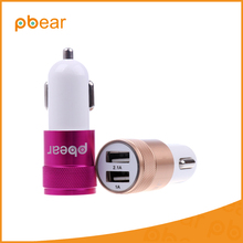 2017 Pbear Dual USB Ports Car Charger Auto Charging Adapter Extra 2 USB Adaptive Smart Port For Smartphone