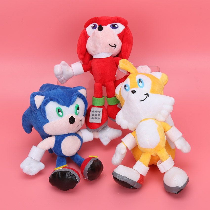 3pcs/set 20cm Sonic the Hedgehog Plush Toys Ultimate Flash Sonic Hedgehog Plush Soft Stuffed animal Doll Good Gift For Kids(China (Mainland))