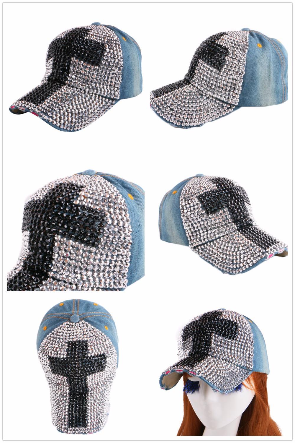 High Quality WOMEN brand baseball cap new fashion rhinestone crystal denim snapback caps wholesale woman hip hop snapbacks hats 12