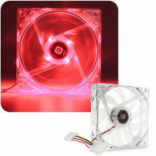 Brand New CPU Case Cooling Cooler Fan Quiet with  Red LED Light For PC Computer 120mm DC 12V 4Pin