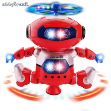 Electronic Robot Toy Dancer Robot Pet 360 Rotating Dance Musical Walking Lighted Birthday Gift Electronic For Children Kid