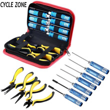 10 in 1 RC high performance steel Helicopter Screwdriver Pliers Hex Repair Tools Kits Box Set with bag APJW(China)