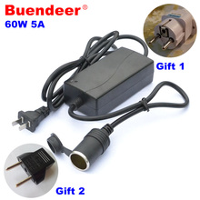 Buendeer 60W Car inverter Car power conversion cigarette lighter 220V turn 12V/5A adapter for vacuum cleaner inflatable pump(China)