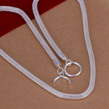 wholesale fine 925-sterling-silver necklace fashion jewelry chain mesh necklaces & pendants women men collar SN087