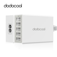 dodocool 5 Ports USB Desktop Charger 40W/8A Fast Smart Mobile Phone USB Charger for iPhone iPad Samsung galaxy Xiaomi Lg HTC(China)