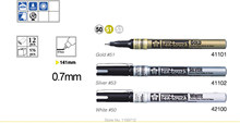 YQB 3 Pc / Set Sakura Pen Touch Bullet Tip Paint Marker Gold Silver White 0.7 EF