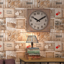 Retro Personality Imitation Wood Straw Wallpaper Cafe Bar Restaurant Vintage Waterproof PVC Vinyl Wall Papers Home Decor Wall 3D