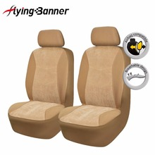 2017 Fashion 2 Front Car Seat Cover Comfortable Corduroy Covers For Seats Car Interior Accessories Both Side Airbag Compatible