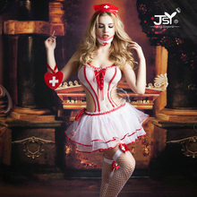 9706 Women Sexy Lingerie Nurse Cosplay Costume Sexy Nurse Uniform New Porn Women Sexy Lingerie Halloween Costumes