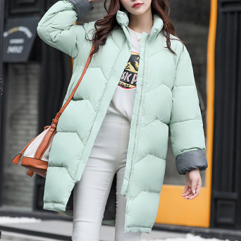 Women Parkas Cotton Padded Warm Coats 2017 Autumn Winter Female Plus Size Long Down Jackets Ultralight Outerwear Parkas GV933Îäåæäà è àêñåññóàðû<br><br>