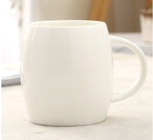 400ml ceramic mug, brief blank high quality mug, logo printing is available(China)