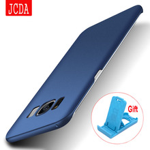 original JCDA For Samsung Galaxy S8+ s7 s6 edge plus NOTE 4 5 S4 S5 phone case Silicone scrub cover Luxury Hard Frosted PC Back