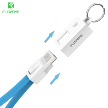 FLOVEME Portable Key Design Mini Micro USB Cable for Samsung Galaxy S7 Xiaomi Redmi 4x Phone Charger Cables Micro USB Data Cable(China)