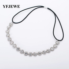 YFJEWE Fashion Hair Jewelry Women Bride Party Elegant Crystal Austrian Wedding Hair Accessories Hairbands Women Party Gift #H028