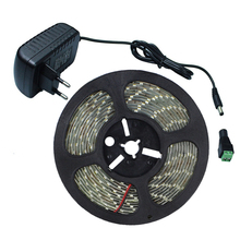 5M 5630SMD 300Leds Led Stripe Light Flexible 5730 Led Tape Ribbon DC12V Waterproof IP65 + 12V 2A Power Adapter + DC Connect