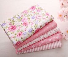 Free shipping High grade40 cm * 50 cm pink hair 100% cotton fabric sewn season Patchwork organization Tilda dolls Child bedding