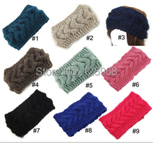 Free Shipping!2015 New 25pcs/lot women girl knitted headband twist crochet head wrap ear warmer hair band crochet handmade