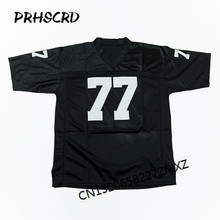 Retro star #77 Lyle Alzado Embroidered Throwback Football Jersey(China)