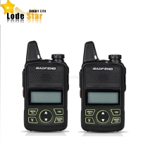 2PCS Original BAOFENG BF-T1 MINI Walkie Talkie UHF 400-470mhz Portable Two Way Radio Ham Radio Transceiver Micro USB Interphone
