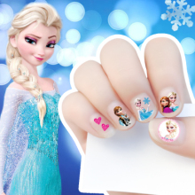 5 styles 2017 New cartoon korea Waterproof 3D Nails Sticker fairy princess Design Nails Foil Sticker Decor Decals for children