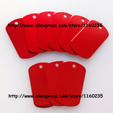 Red dog tags military,personalized blank dog tags for men,50pcs cheap wholesale,free shipping