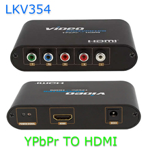 LKV354 Component YPbPr and Stereo Audio R/L to HDMI Video Converter Adapter 1080P for PSP/PS2/XBOX360/STB/DVD Player/Projector