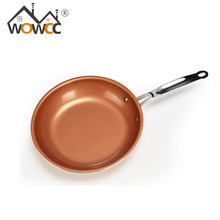 "10"" Non-stick Copper Frying Pan with Ceramic Coating and cooking,Oven & Dishwasher Safe,Ceramic Nonstick Skillet"