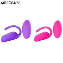 Buy Zerosky USB Rechargeable Wireless App Remote Control Jump Egg Vibrators Silicone Vibrating Egg Vibrator Sex Toys Woman