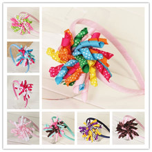 korker flower hair bow baby girls hair bands for children headband of grosgrain ribbon bows hairbows hairpins accessories bands(China)