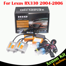 Cawanerl 55W Canbus HID Xenon Kit No Error Ballast Bulb AC 3000K-8000K Car Headlight Low Beam For Lexus RX330 2004 2005 2006