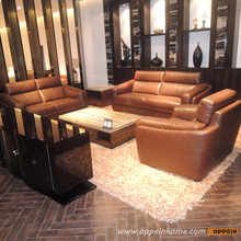 Leather sofa product in China of furniture factory Oppein Italy classic sofa office sofa OS-0114007