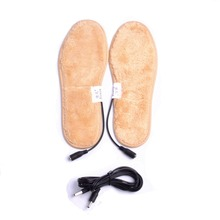 USB Electrically Heated Shoes Insoles Boots Keep Feet Warm For Men Women Winter Black Line