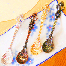 Vintage royal style Palace Carved Coffee Drink Condiment Spoon Tea Ice Cream balls milk Scoop(China)