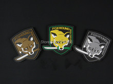 FOX HOUND SPECIAL FORCE GROUP PVC 3D Rubber Patch Rubber Patches Badge Badges For Clothing Jacket Cap Backpack Bag(China)